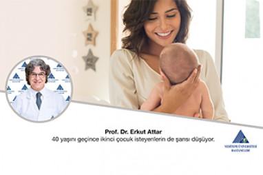İkinci Çocuk İsteyenlerin de 40 Yaşı Gecince Şansı Düşüyor | Prof. Dr. Erkut Attar