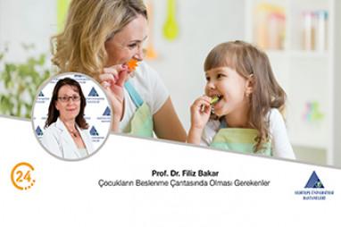 Çocukların Beslenme Çantasında Olması Gerekenler   Prof. Dr. Filiz Bakar