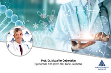 Prof. Dr. Muzaffer Değertekin Tıp Bilimine Yön Veren 100 Türk Listesinde